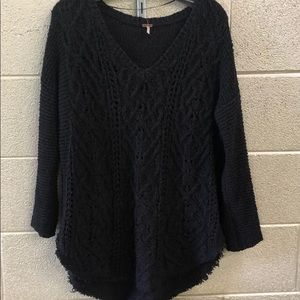 Free People offblack cotton oversized long sweater